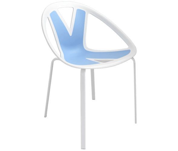 Extreme, chair, blue, pattern, statement