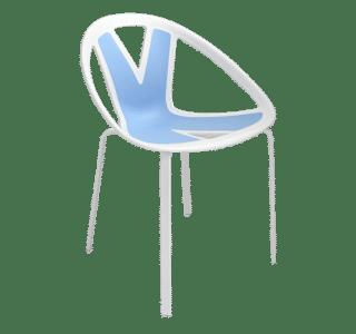 Extreme, chair, blue, pattern, statement