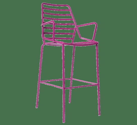 Link stool colour metal