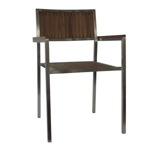 Mariner, timber, steel, with arms, outdoor, rustic