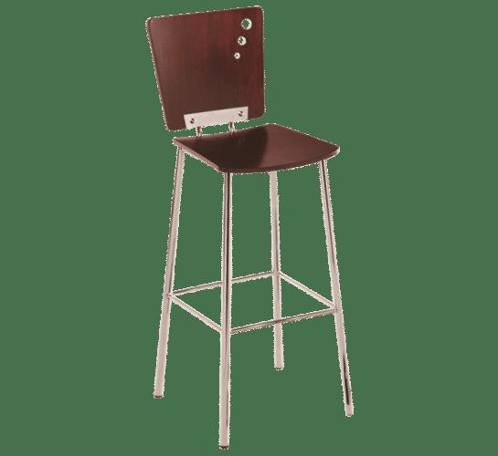 Metro stool timber steel