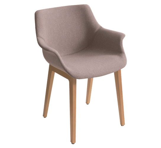 More BL, upholstered beech legs, versatile, unique, chair