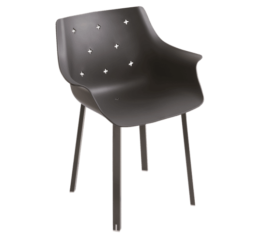 More NA, chair, steel legs, outdoor, indoor, elegant, versatile