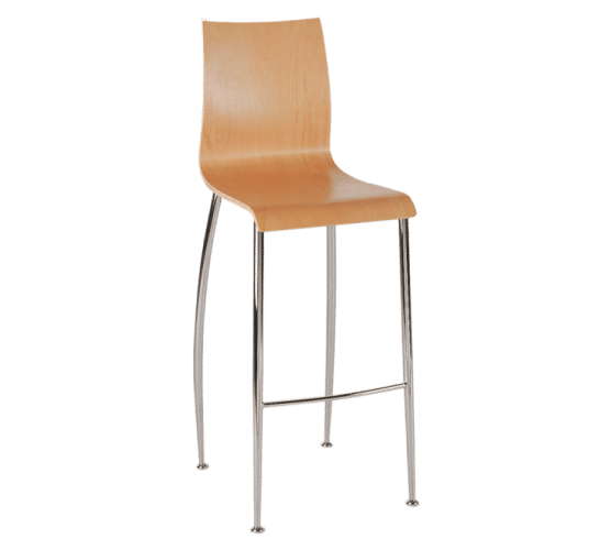 Oggi stool timber steel