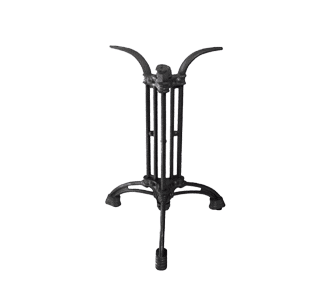 Ornate cast iron table base