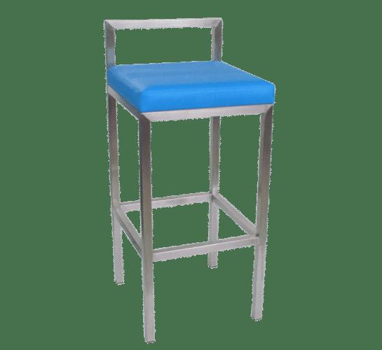 Rubik stool upholstered seat steel back