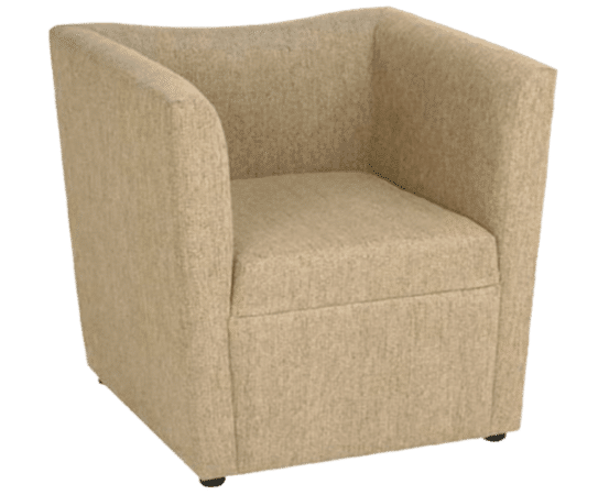 Wave tub chair soft seating