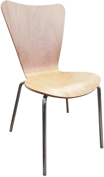 Bindi wooden chair | Stackable