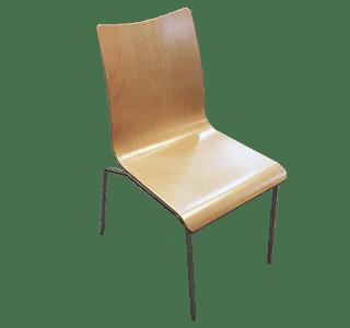 natural, bonn chair, 4leg, cafe chair, hospitality