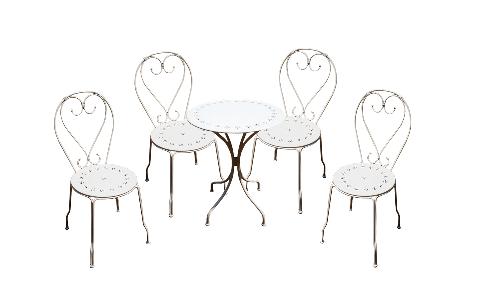 Chaise Cafe Table and Chairs