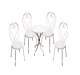 chaise 5 piece setting, tables, chairs, set, garden set, outdoor furniture
