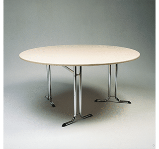 folding table, round, made to order, conference, events, chrome, indoor