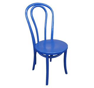 painted chair, bentwood