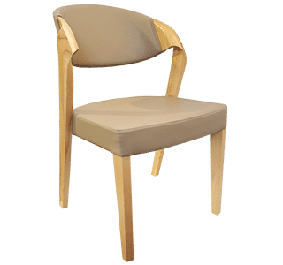 Clara chair, wooden and upholstered, commercial, hospitality chair