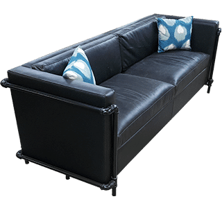 piped sofa, nz made, commercial, domestic, leather, upholstered