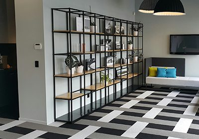 Shelving come with wooden shelf