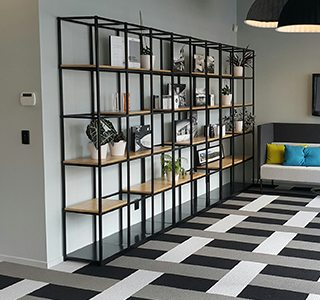 Shelving with Wooden Shelf