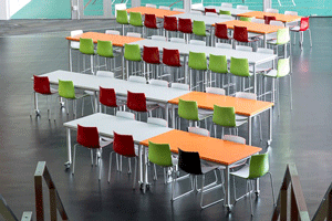 Function chairs with tables