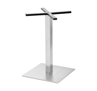 table base 50, commercial, stainless steel, hospitality