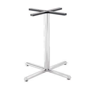 Crucifix stainless steel table base for cafe furniture