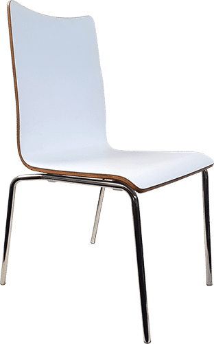 White Bonn Melamine Chair
