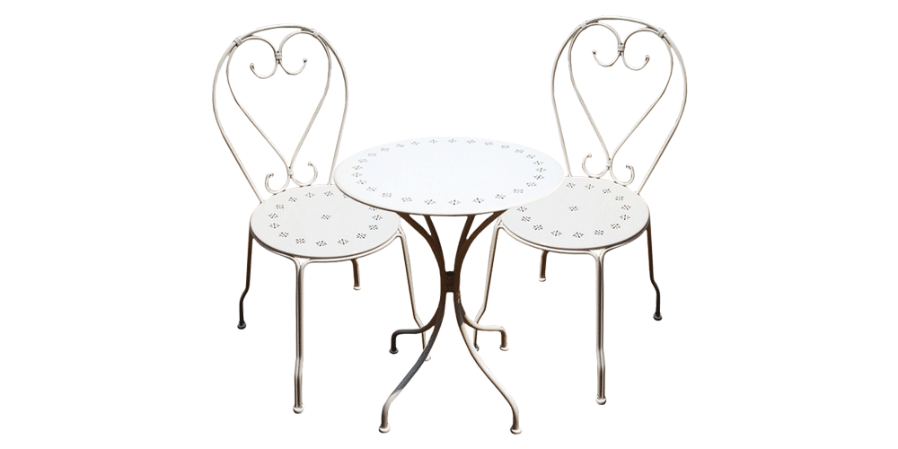 Chaise 3 Piece Setting | French | Cafe | Indoor | outdoor | antique |