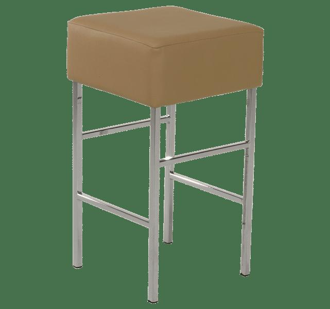 Cube upholstered stool