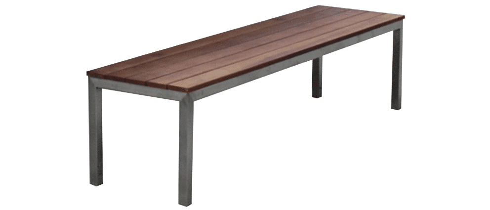 Garapa-bench seat