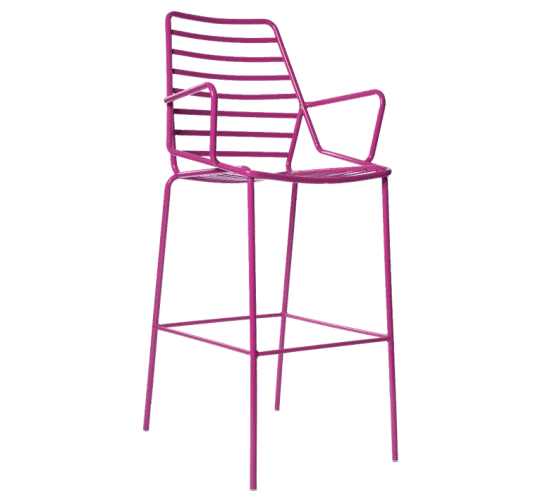 Link stool colour metal
