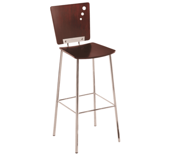 Metro stool timber steel