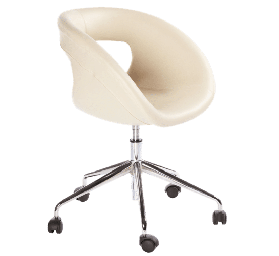 Moema 75SR, chair, upholstered, castors, swivel, easy, modern, lightweight, compact, simple