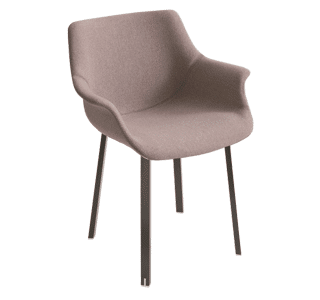 More NAU, chair, upholstered, steel legs, office chair, versatile