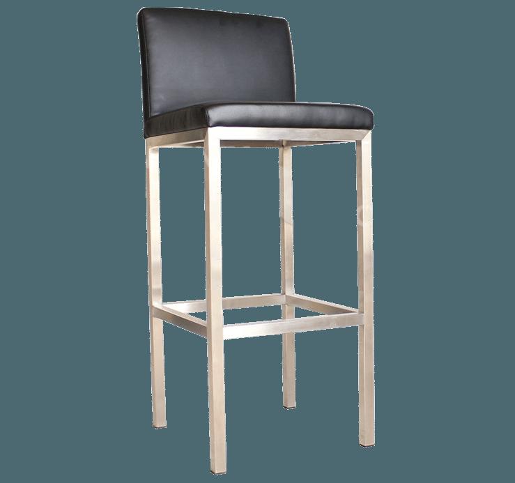 Rubik stool upholstered seat back