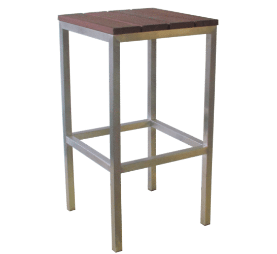 Rubik stool kwila seat