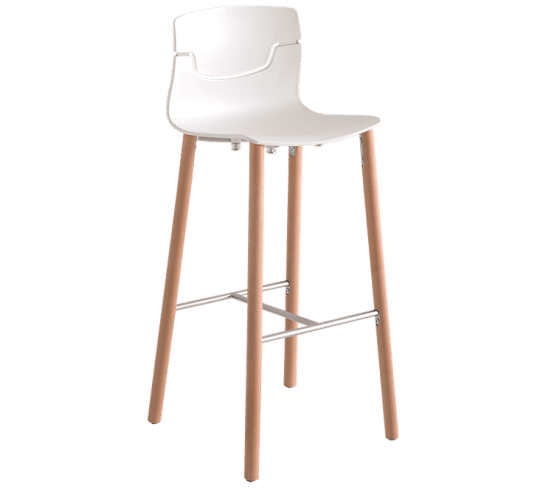 Slot stool beech legs | Bar Stools
