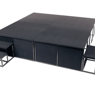 foldaway stage, less space, events, staging