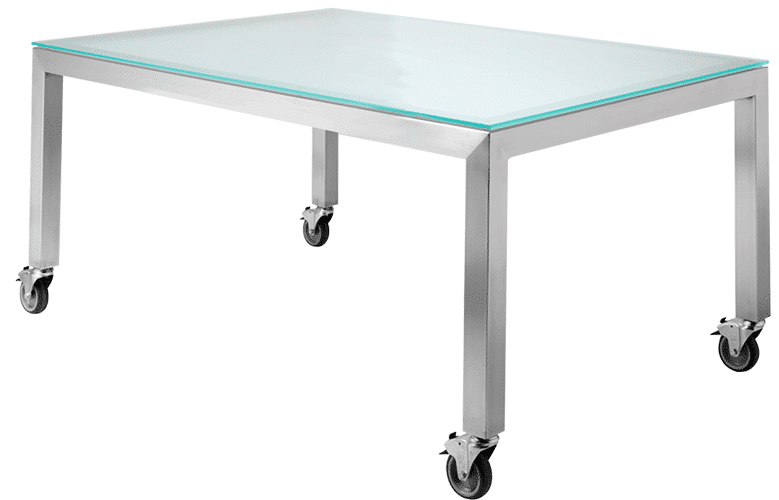 Studio table frame on castor