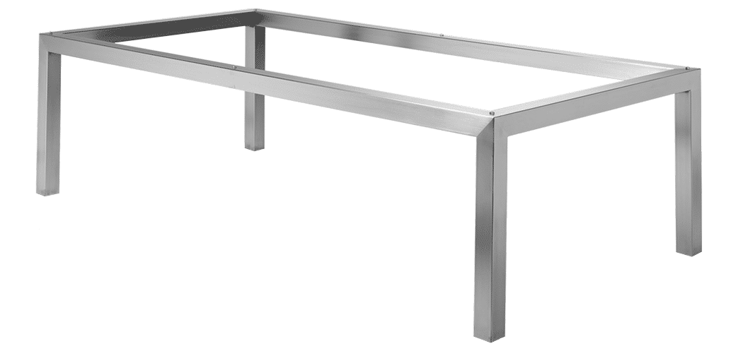 Studio Table Frame Stainless Steel Nz Made Titan Furniture