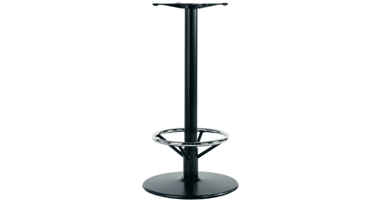 Trumpet table base foot rest