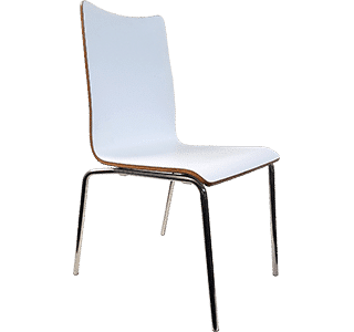 melamine chair, stainless steel, cafe chair, natural, bonn, indoor chair