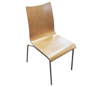natural, bonn chair, 4leg, cafe chair, hospitality