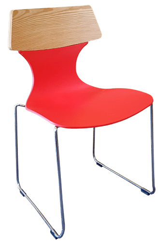 Red Solewood Stackable Chair S