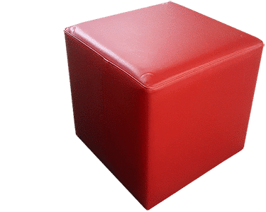 Red Cube Ottoman NZ