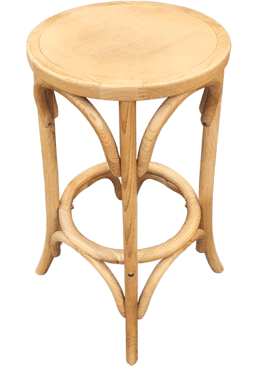 Bentwood Stool No Back | Wooden Seat