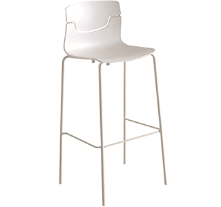 Bar Stools | Slot Stool with chrome legs