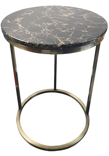Lena Brushed Brass Coffee Table Titan Furniture Auckland