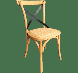 Crosshart Chair | Rattan Seat Chair
