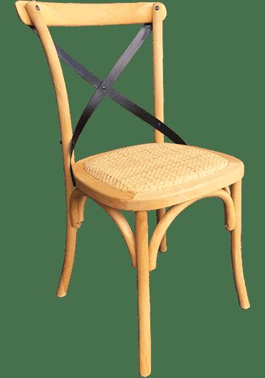 Crosshart Chair Rattan Seat Chair Titan Furniture