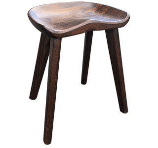 Saddler Low Stool Painted | Bar Stool Low Height NZ