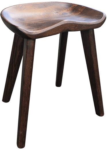 Saddler Low Stool Painted | Low Bar Stool